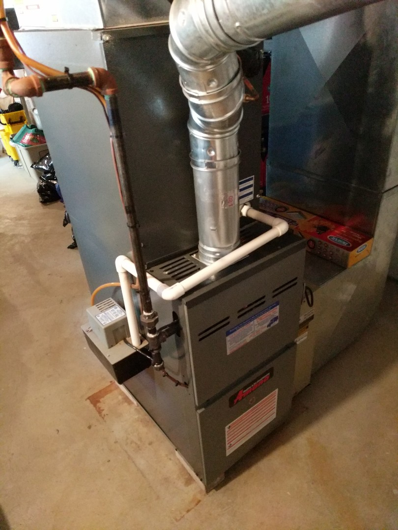 Fort Gratiot Township, MI - Amana furnace clean and check.