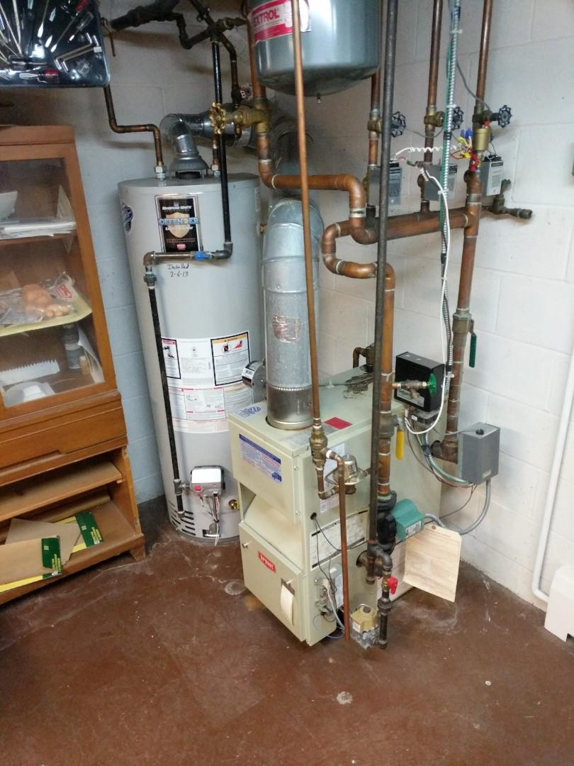 Saint Clair, MI - Bryant boiler clean and check.