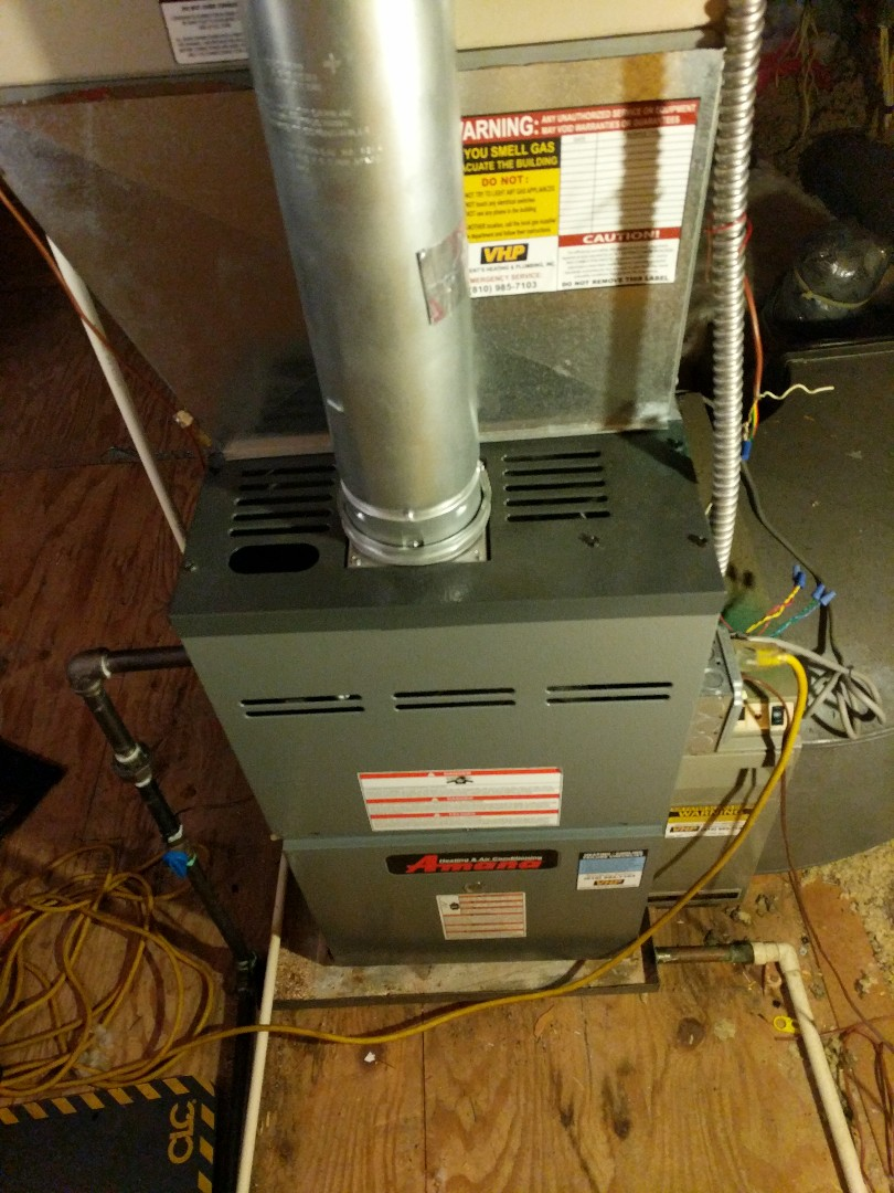 Fort Gratiot Township, MI - Furnace repair in attic.