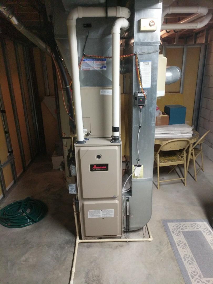 Marysville, MI - Amana furnace tune up.