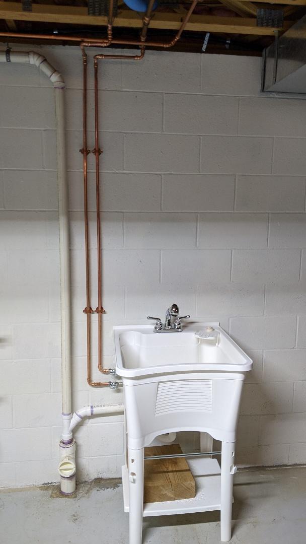 Saint Clair, MI - Laundry tub install