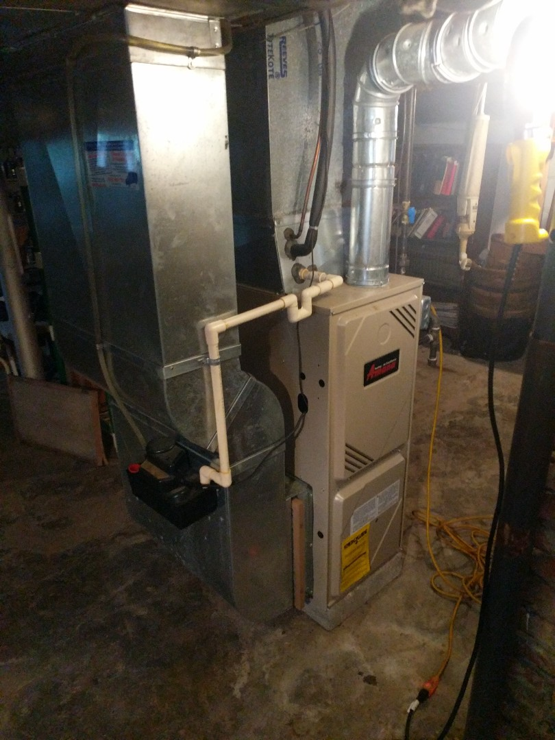 Smiths Creek, MI - Amana furnace clean and check with repairs.