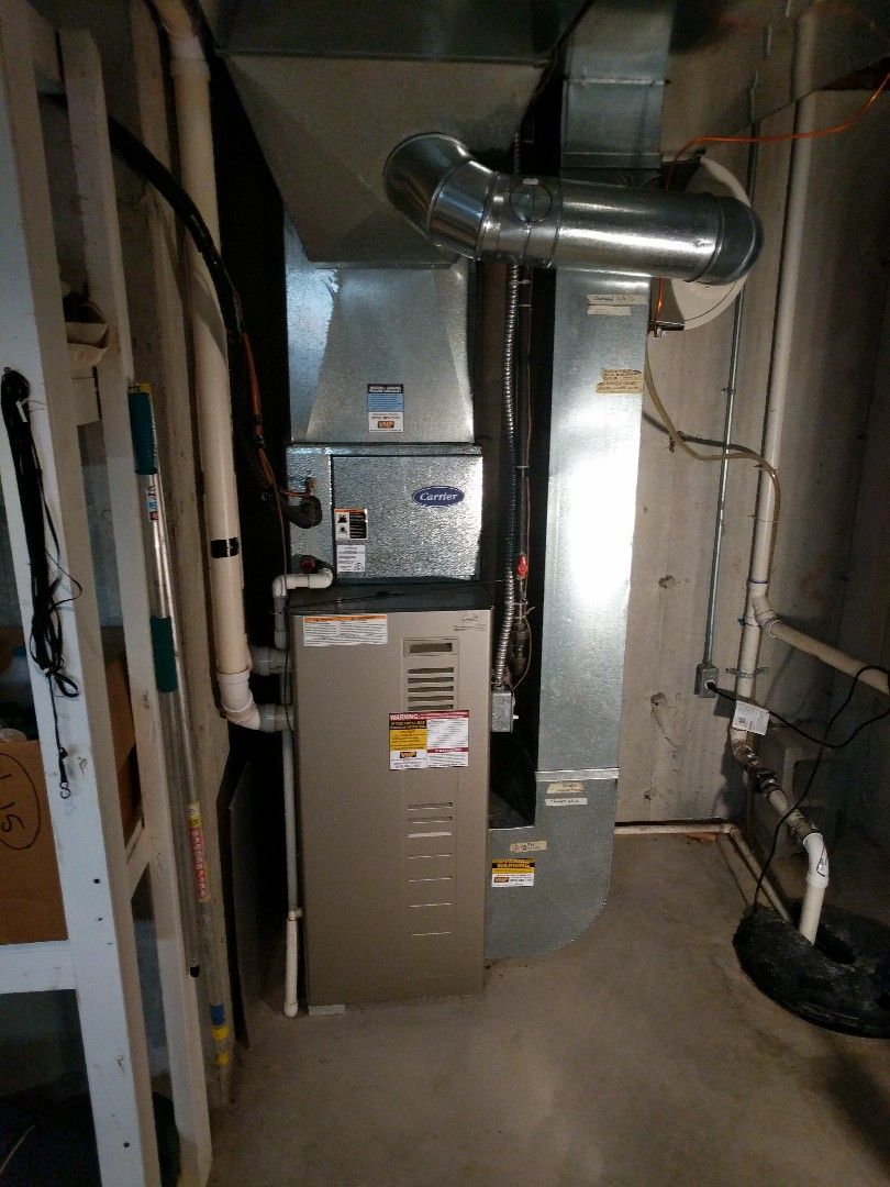 Saint Clair, MI - Carrier furnace clean and check.