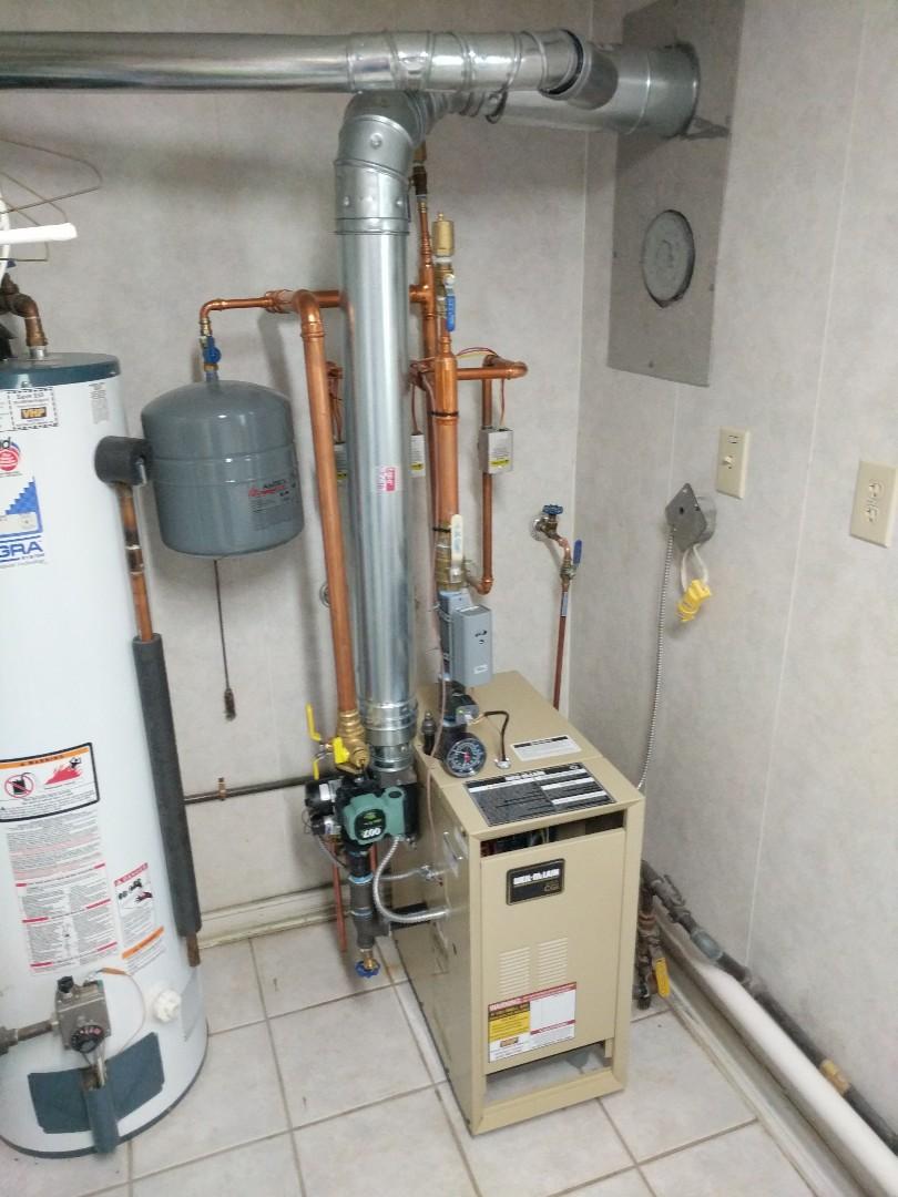 Fort Gratiot Township, MI - New Weil Mclain boiler installed.