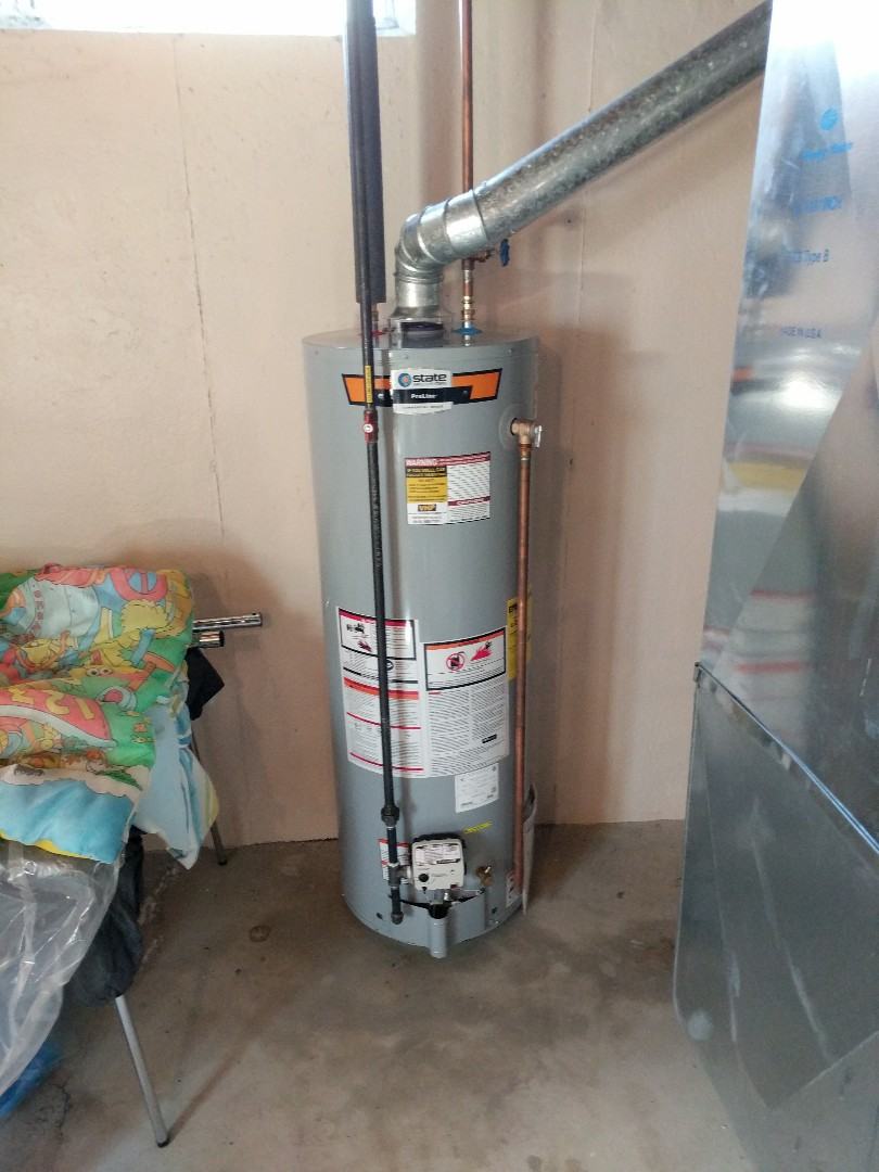 Saint Clair, MI - Install 40 gallon water heater.