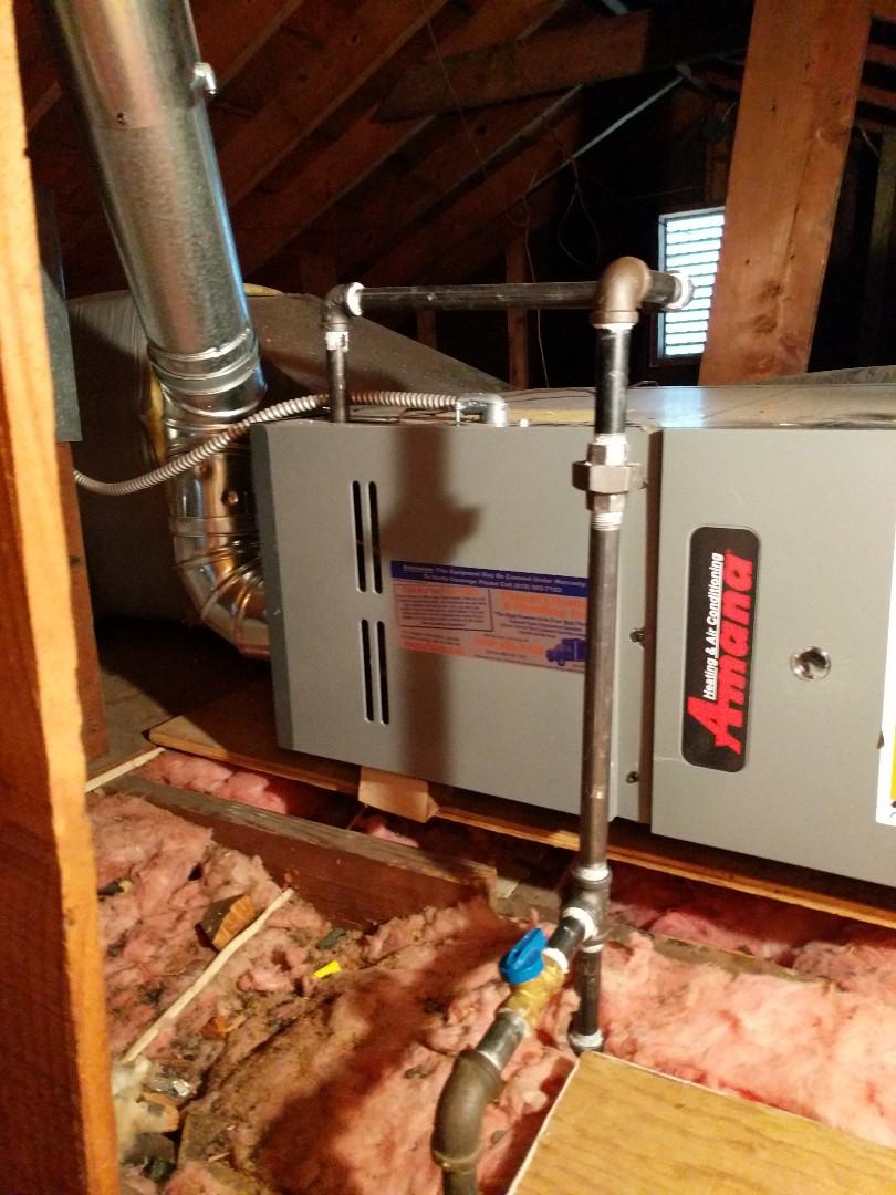 Lexington, MI - Furnace repair in attic.