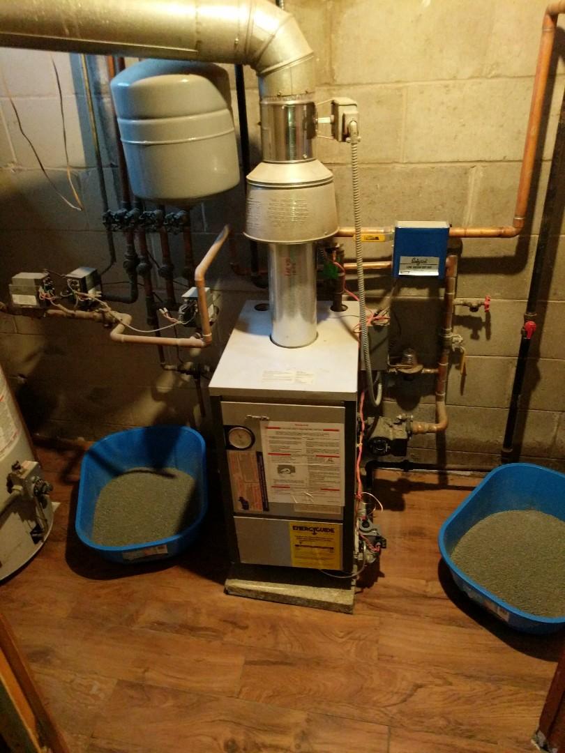 Saint Clair, MI - Slant Fin boiler repair.