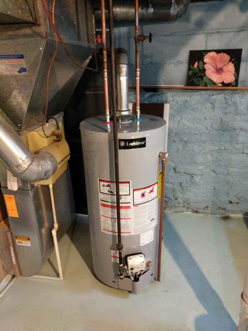 Saint Clair, MI - Install 40 gallon gas water heater.
