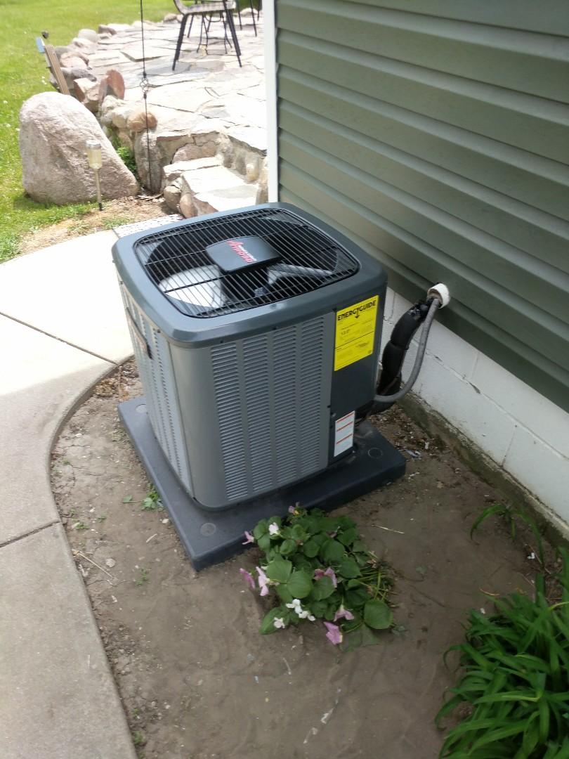 Smiths Creek, MI - New AC installed.