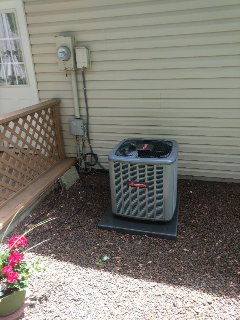 Marysville, MI - Amana AC tune up and filter change.