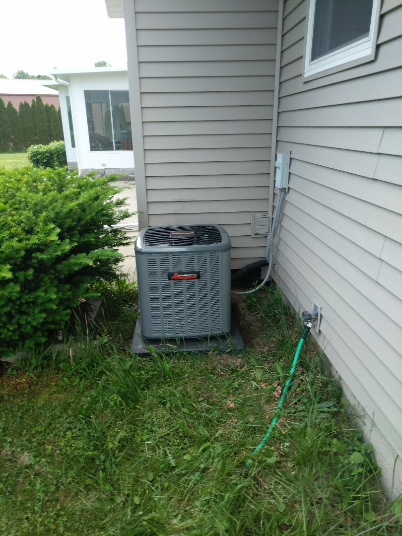 Saint Clair, MI - AC installed.