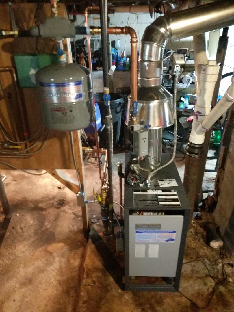 Marysville, MI - Installation of Weil Mclain boiler.