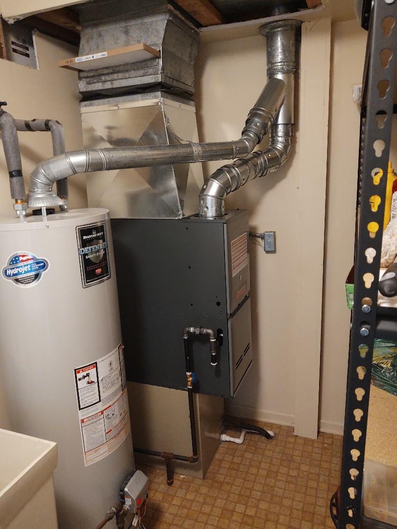 Marysville, MI - Downflow Furnace installation