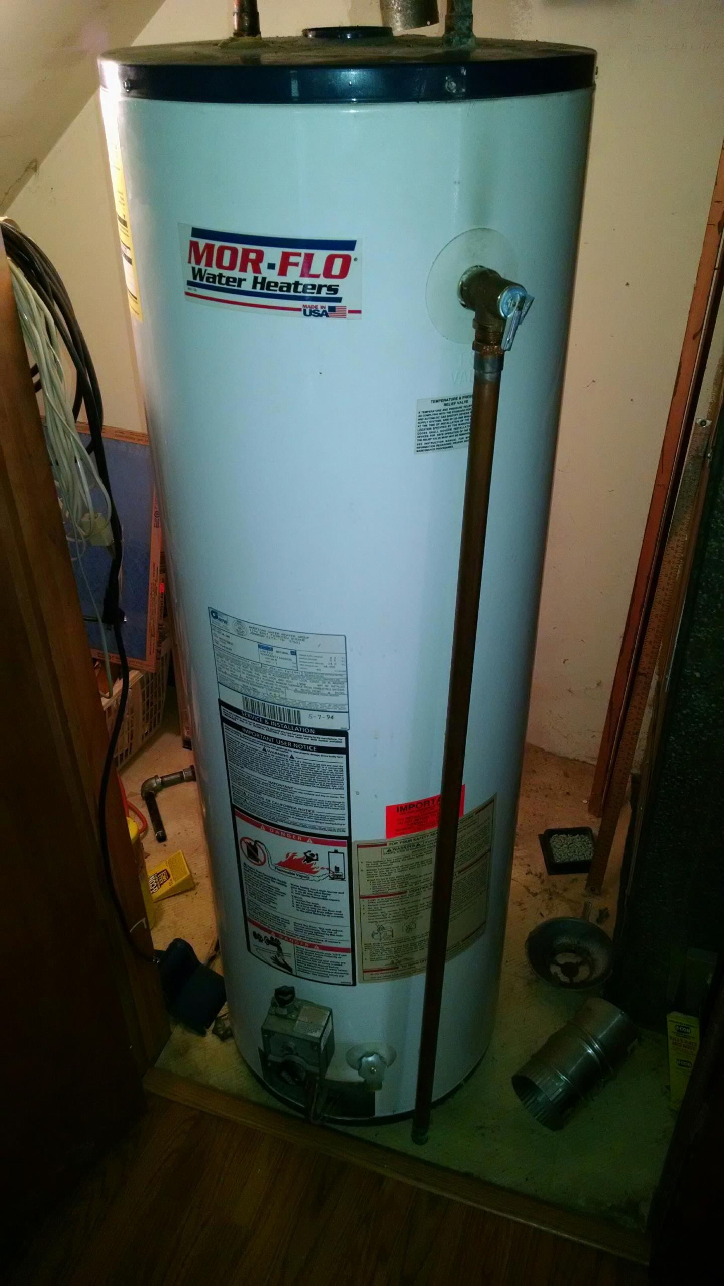 Richmond, MI - Water heater replace