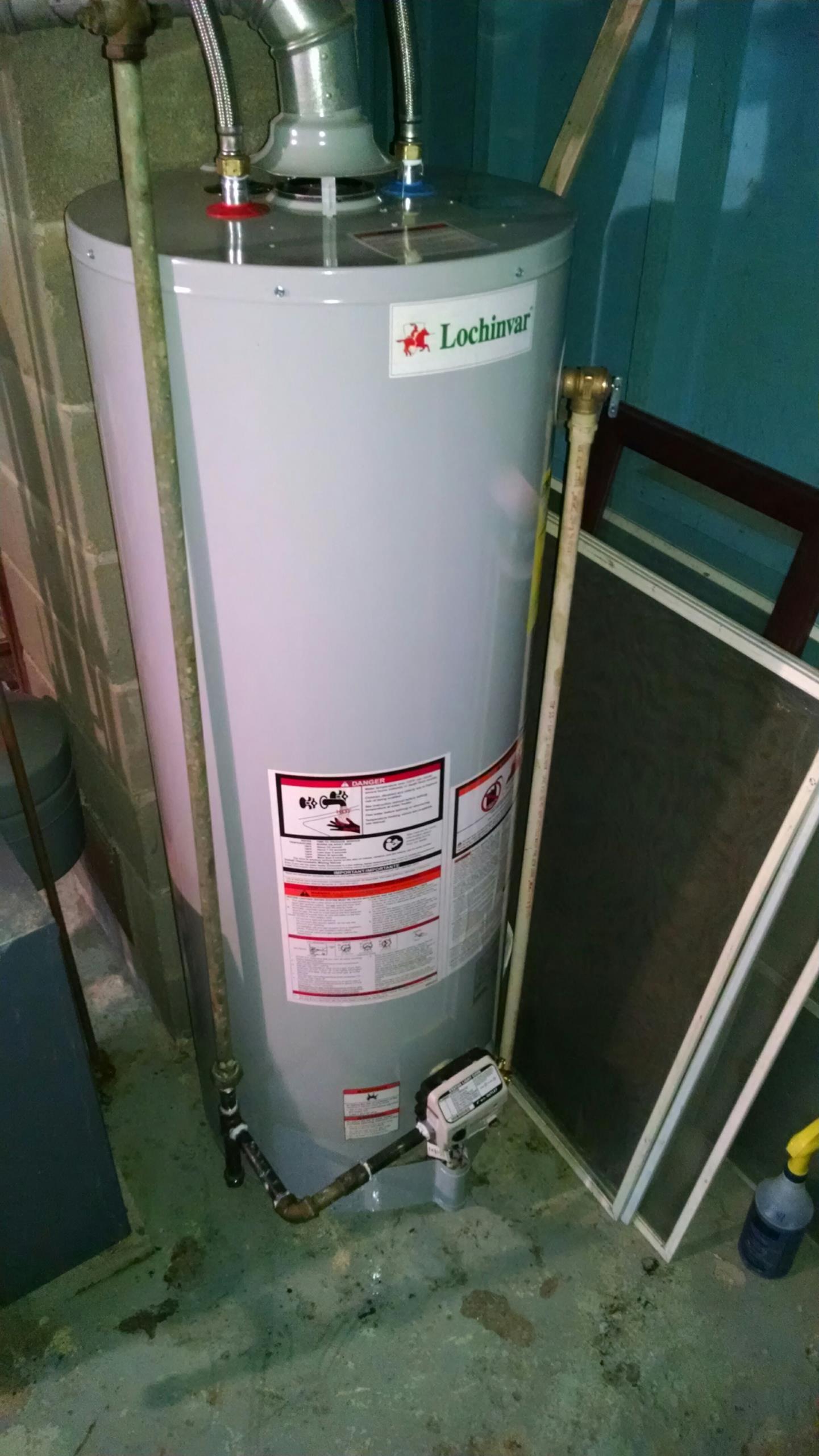 Marine City, MI - Install 40gal gas waterheate