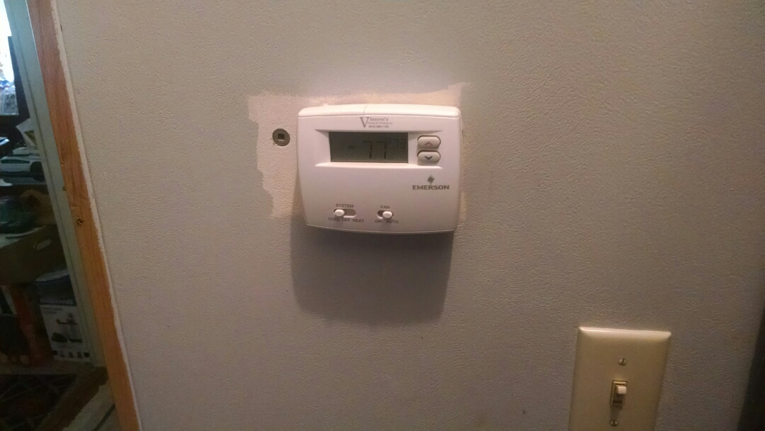Emmett, MI - New batteries in thermostat.