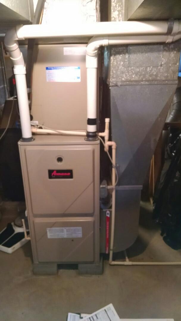 Saint Clair, MI - Pre season check on Amana high efficiency furnace.
