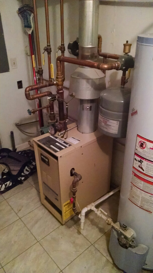 Saint Clair, MI - Purge air out of lines on boiler.
