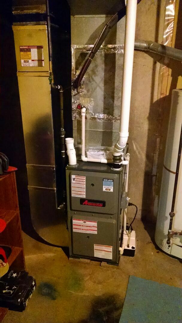 Saint Clair, MI - New Amana furnace inspection.