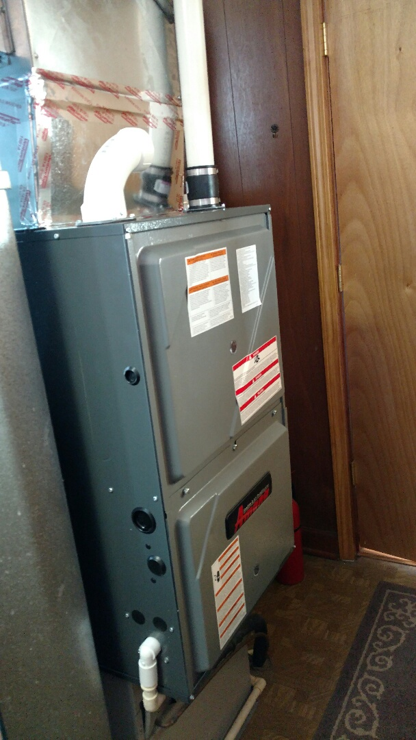 Ira Township, MI - Replacement of old Frigidaire furnace with new Amana furnace