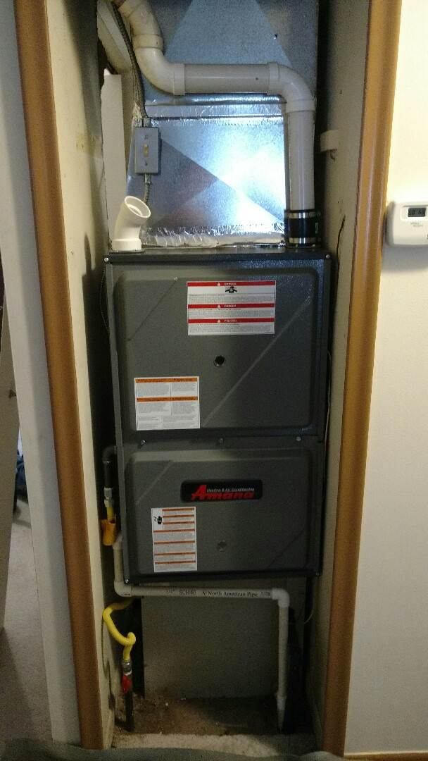 Marine City, MI - Install a new Amana furnace