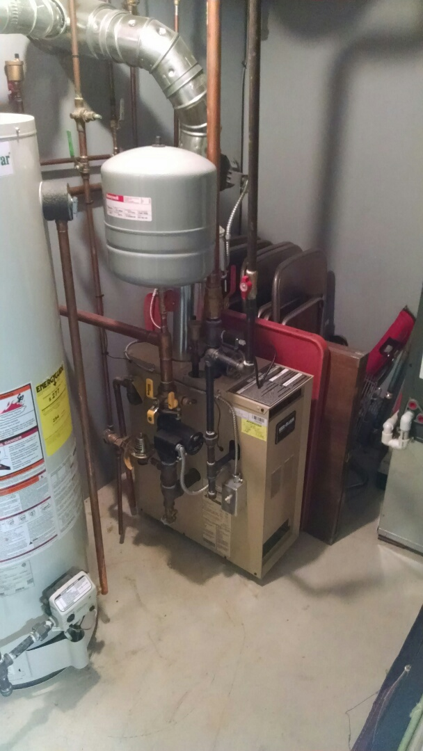 East China, MI - Tune up Weil Mclain boiler.