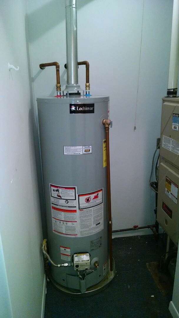 Clay Township, MI - 40 gal natural gas water heater replacement