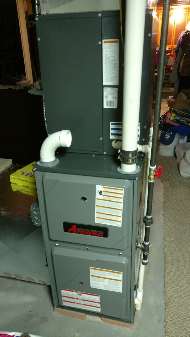 Marysville, MI - Installed new Amana furnace and April air humidifier