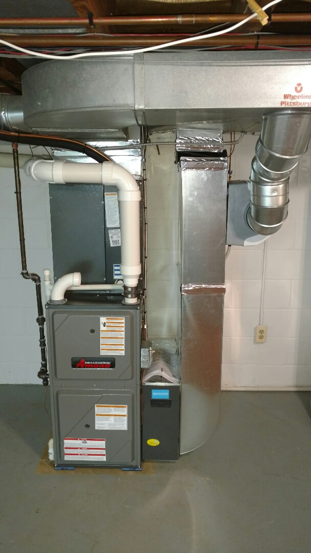 Lexington, MI - Replacement of old Bryant furnace with new Amana furnace