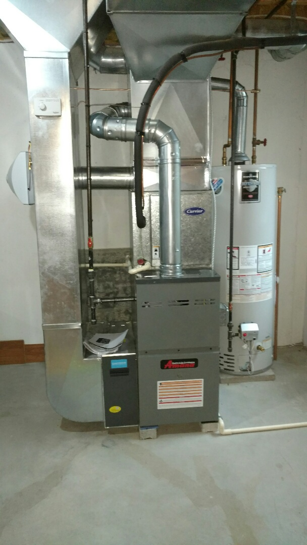 Marysville, MI - Replacement of old 80% Carrier furnace with new Amana 80% and April air humidifier