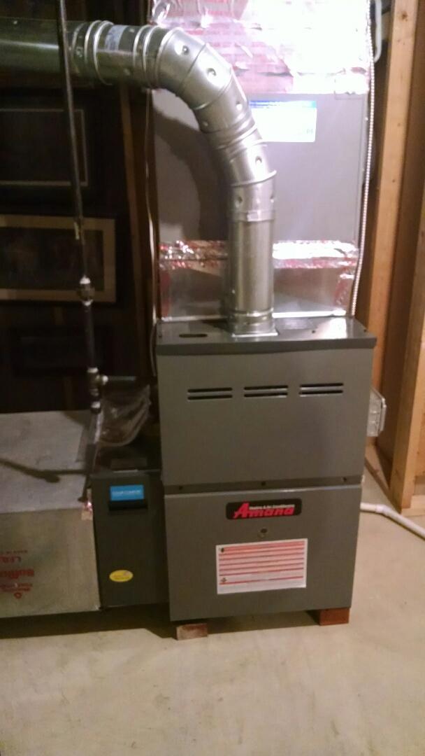 Memphis, MI - Install new Amana furnace and filter