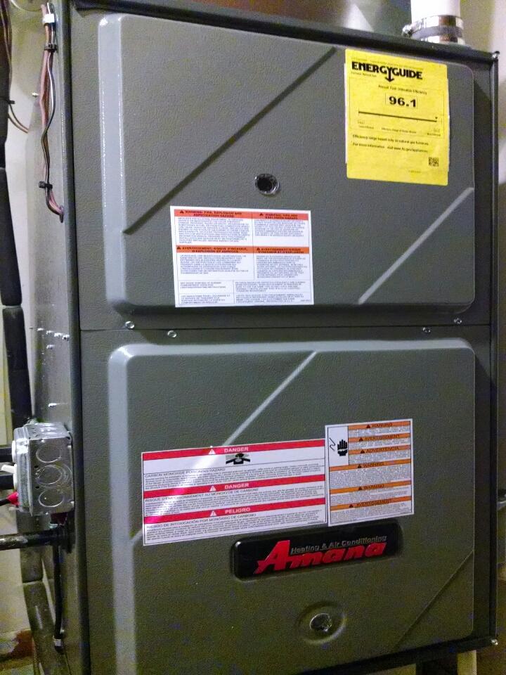 Marine City, MI - Amana furnace install