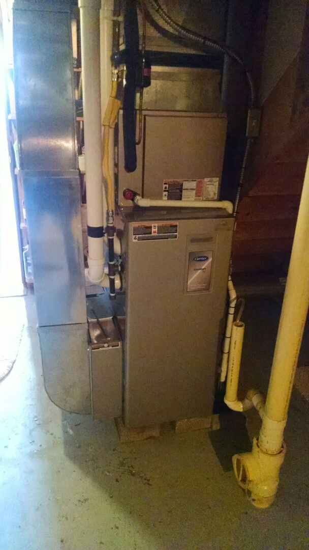 Marysville, MI - Tune up new Carrier furnace.