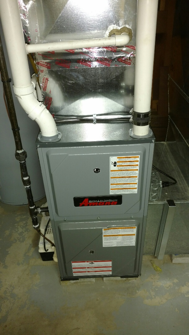 Port Huron, MI - Replacement of old Carrier furnace with new Amana furnace and lockenvar hot water heater