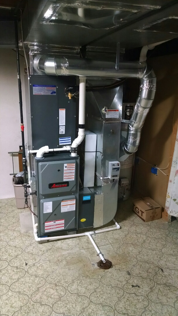 Marysville, MI - Final inspection of new high efficiency furnace and AC.