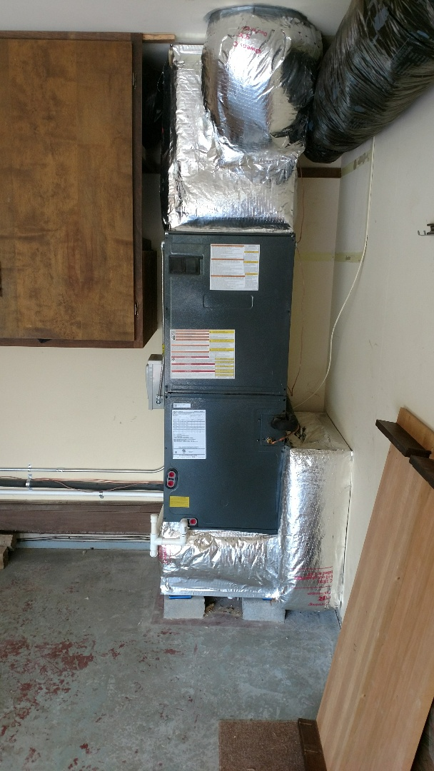 Lexington, MI - Installed air handler and AC unit