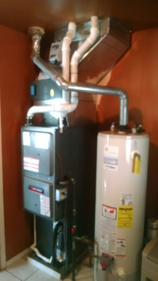 Capac, MI - Installation of a. Amana furnace and air conditioner.