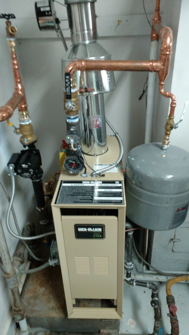 Goodells, MI - Scheduled maintenance on weil-mclain boiler