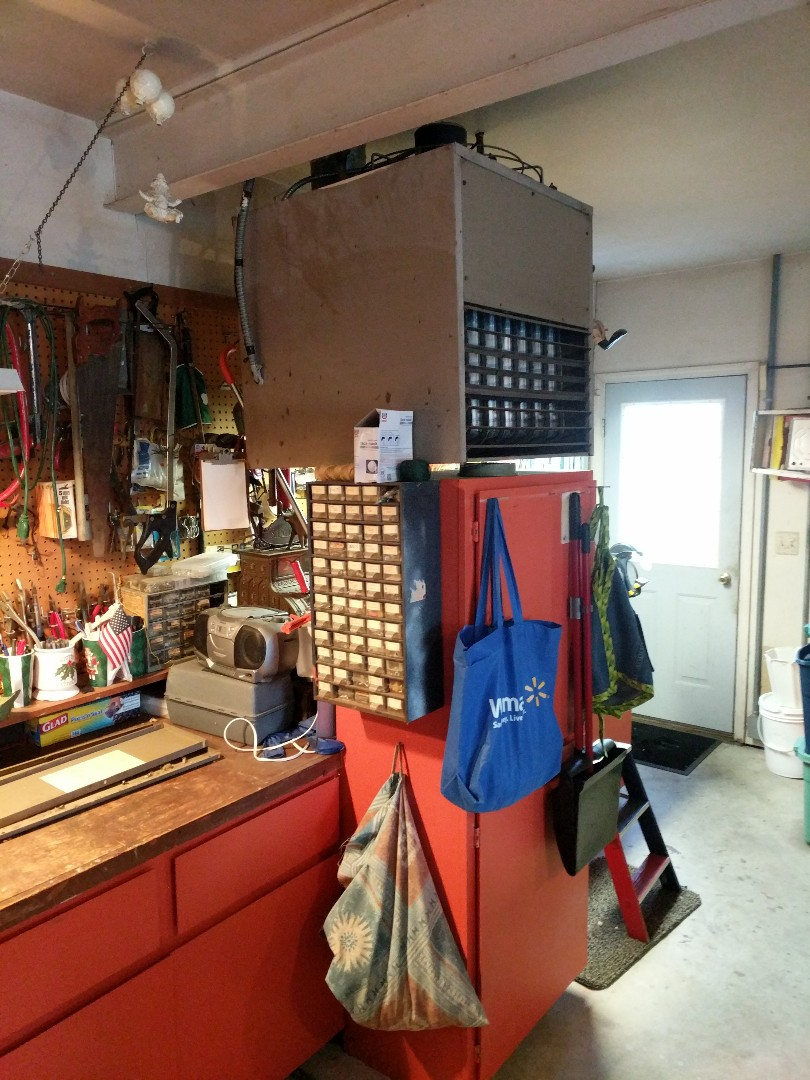 Algonac, MI - Repair garage ceiling hung heater.
