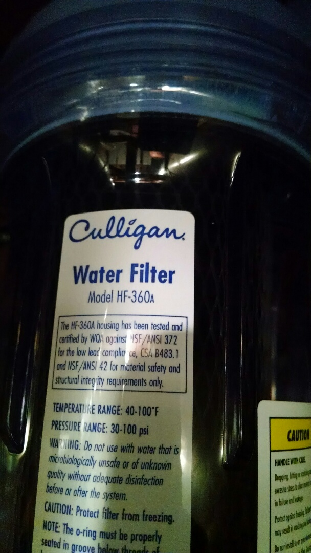 East China, MI - Water leak Culligan water filter