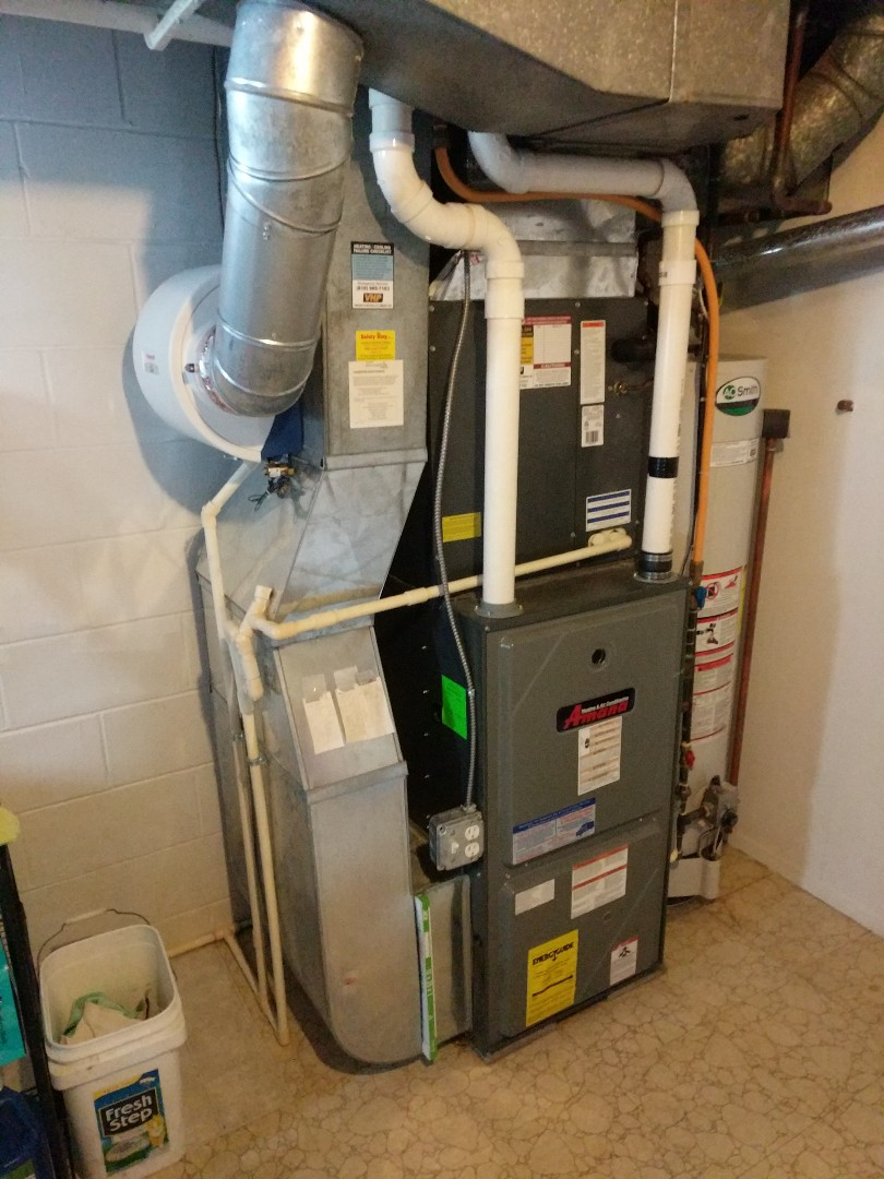 East China, MI - Amana furnace and Honeywell humidifier tune up.