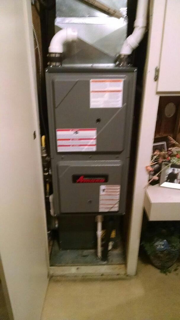 Grant Township, MI - Installation of an Amana down flow furnace