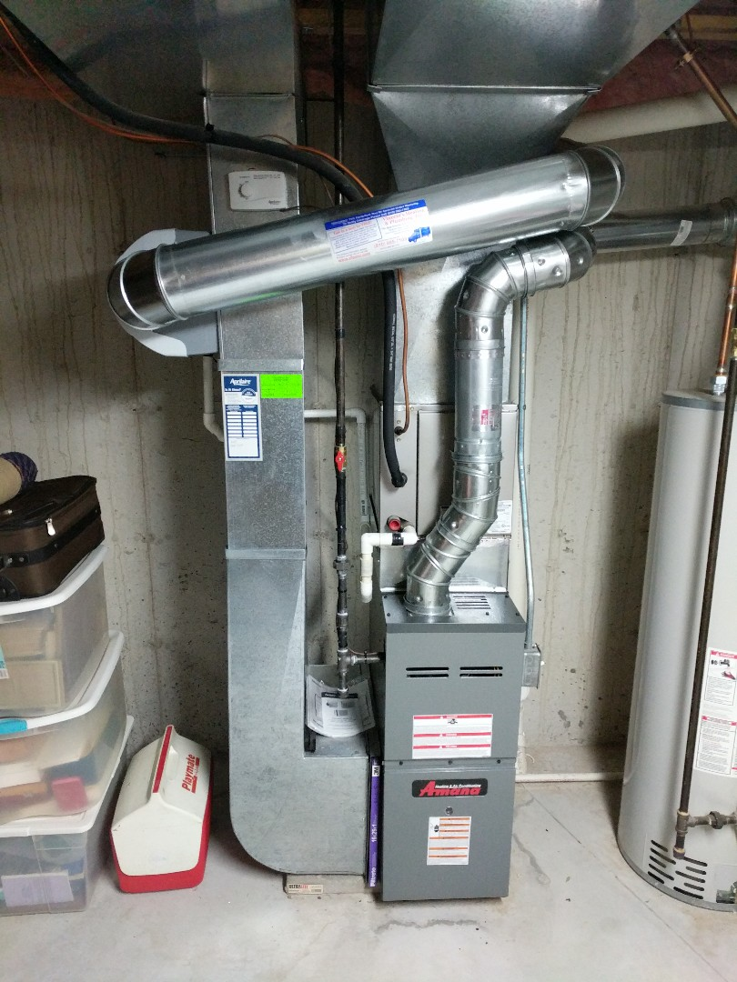 Port Huron, MI - Amana furnace and Aprilaire humidifier cleaning and safety inspection.