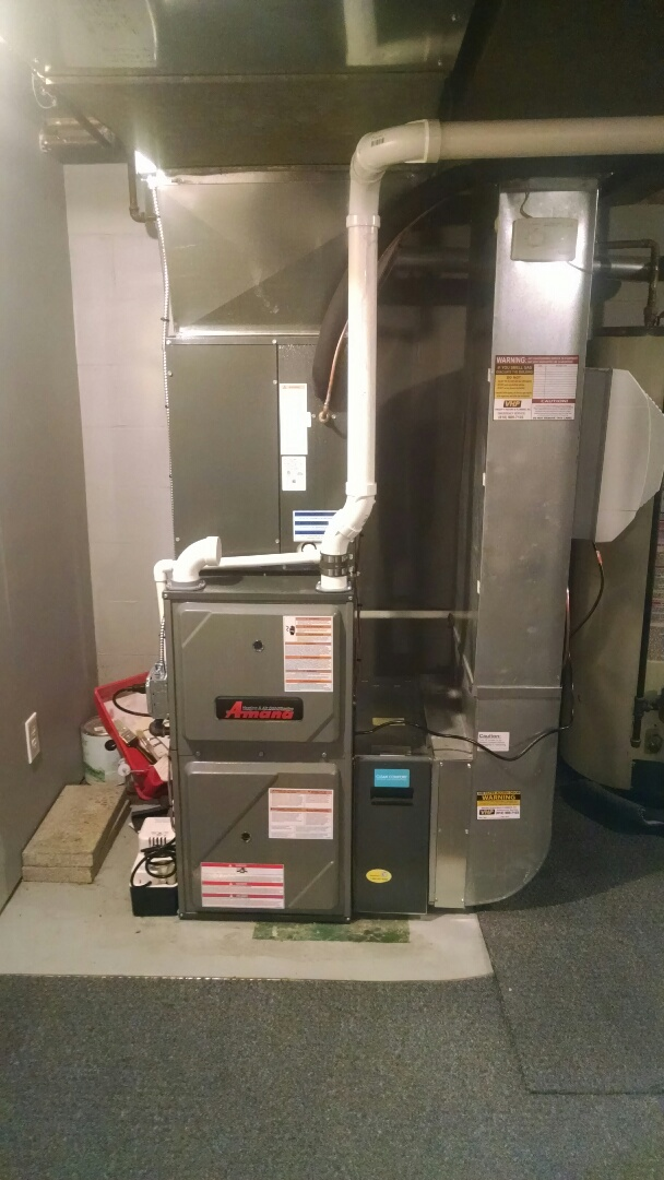 Port Huron, MI - Installation of an Amana furnace and air conditioner