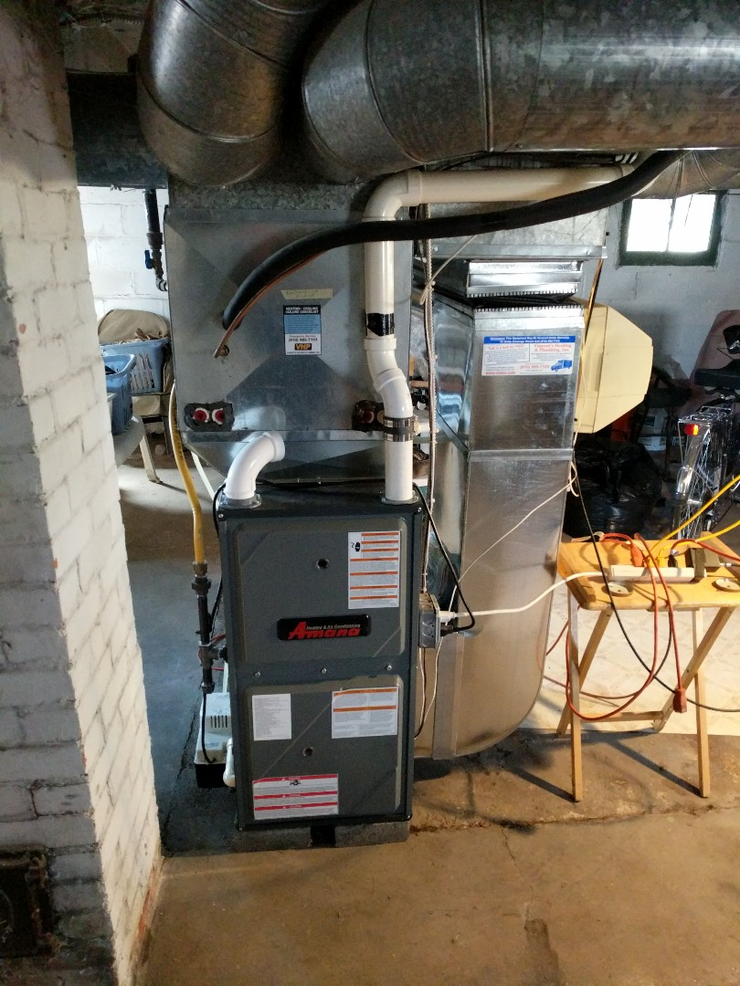 Marine City, MI - Verify operation of new Amana furnace.