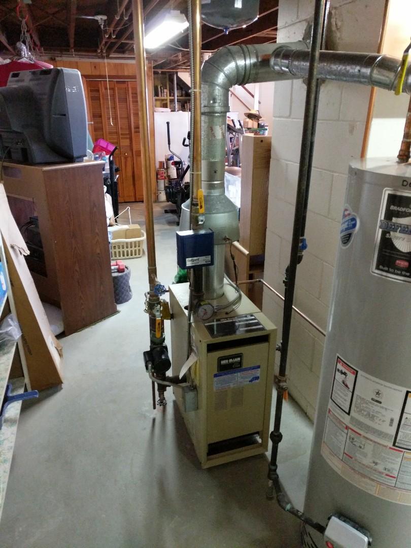 Marysville, MI - Weil McLain boiler tune up.