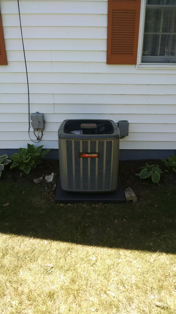 Port Huron, MI - Installation of an Amana air conditioner