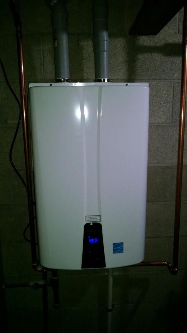 Memphis, MI - Tankless water heater install