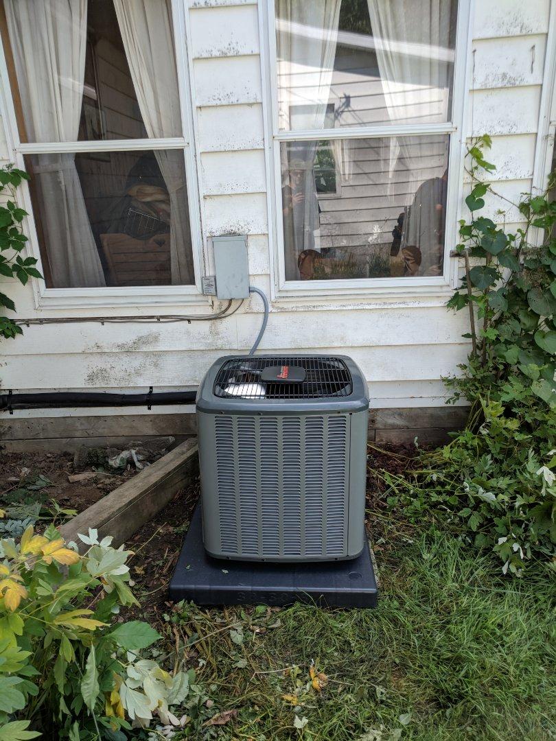 Emmett, MI - Install air handler