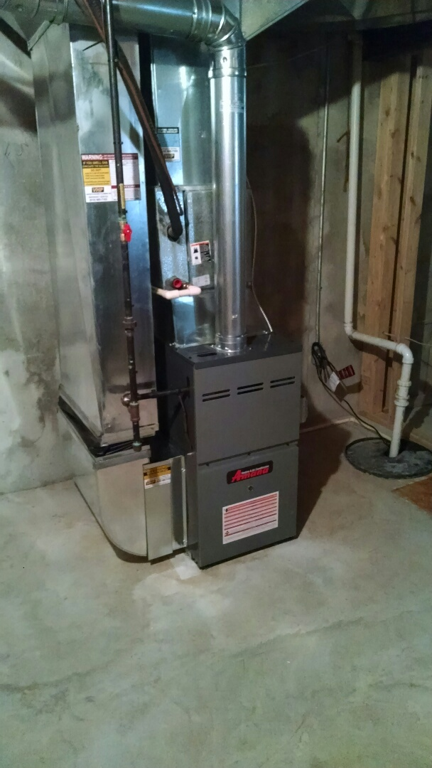 Kimball, MI - Installation of an Amana furnace